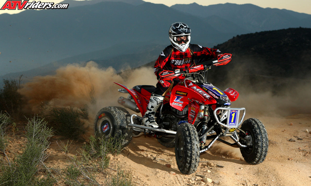worcs atv champion beau baron on his honda trx450r