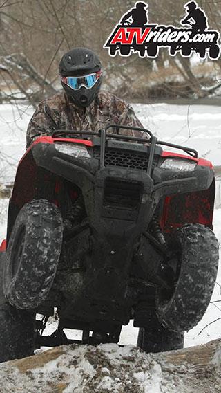 2014 honda rancher winter riding wallpaper