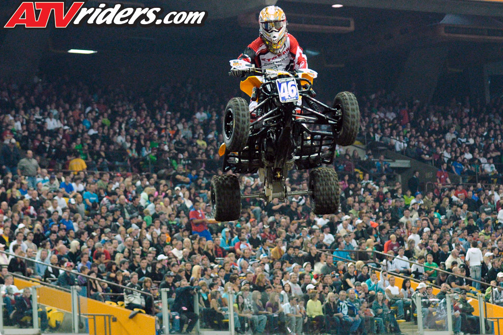 Canadian atv motocross champion can am s richard pelchat claimed the