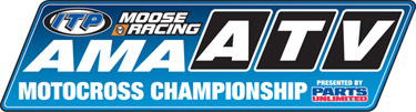 AMA ATV Motocross National Motocross Racing Series Logo