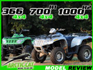 2008 Arctic Cat Thundercat 1000, 700 H1 & 366 ATV Review