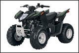 Black Green Arctic Cat DVX90 ATV