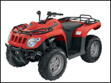 Red Arctic Cat 366 ATV