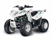 White DVX 90 Youth ATV