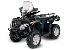 Black Arctic Cat 366 ATV
