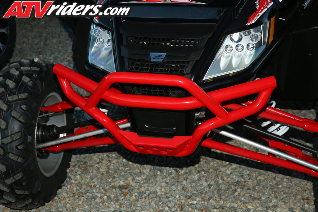 Red Atv With Painted Bumpers