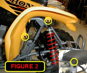 front fender fastener postions on a 400ex