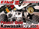 2009 Kawasaki KFX 450R ATV Project Build -  Part 1 Suspension