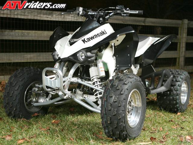 2008 Kawasaki KFX 450R Project Quad Build - Front Suspension, Brakes ...