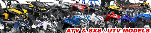 UTV / ATV Models - Arctic Cat, Can-Am, Cobra, Honda, Kawasaki, KTM, Kymco, Polaris, Suzuki, Yamaha