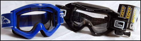 Standard Goggles compared to Scott Voltage Goggles