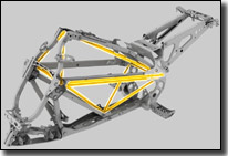 Can-Am DS450 ATV luminum Frame