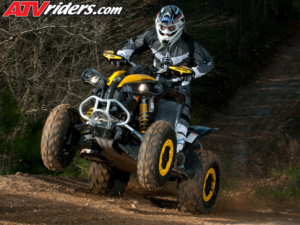 mountopz atv 2010 brp can am outlander renegade atv test ride review. Black Bedroom Furniture Sets. Home Design Ideas