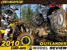 2010 BRP Can-Am Outlander & Renegade ATV Test Ride / Review