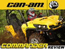 2011 CanAm Commander 800R, 1000 X & XT SxS / UTV Ride Review