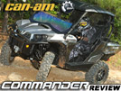 2011 Can-Am Commander 1000 XT SxS / UTV Test Ride Review