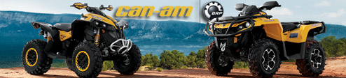 All New 2012 Can-Am Outlander 1000 & Renegade 1000 Utility ATV