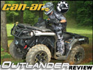 2012 Can-Am Outlander 1000 & 800R Utility ATV Test Ride Review