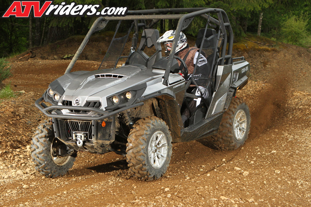2013 Can-Am Commander 1000 Dynamic Power Steering SxS Drive Review ...