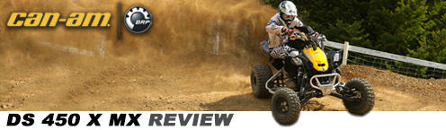 2013 Can-Am DS450 x MX Review