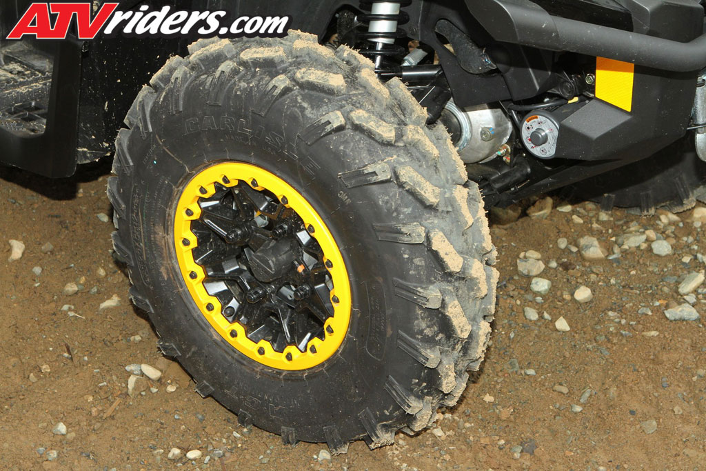 The 2013 Can Am Outlander MAX XT P Utility ATV Comes Standard With Nice Looking Colored Beadlock Wheels