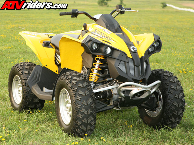 brp 39 s can am renegade atv podiums in racing debut. Black Bedroom Furniture Sets. Home Design Ideas