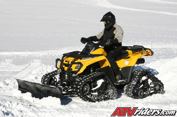 New BRP Apache ATV Track System with Studded Tracks