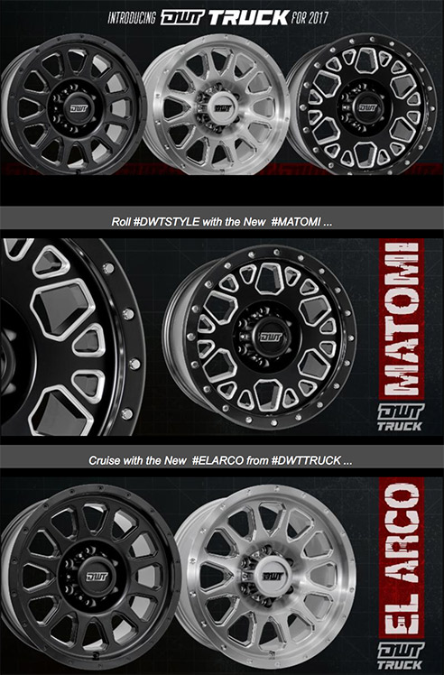 DWT's all-new Truck Wheel line