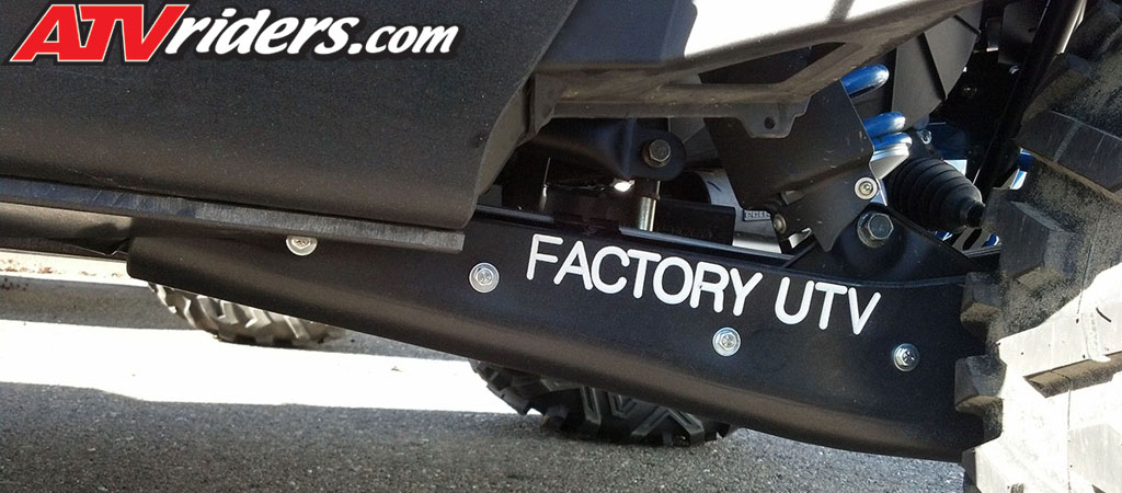 Factory UTV Polaris RZR XP 900 UHMW Trailing Arm Skid Plates - Ultra