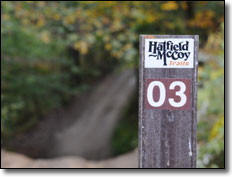 Hatfield McCoy Trail Marker