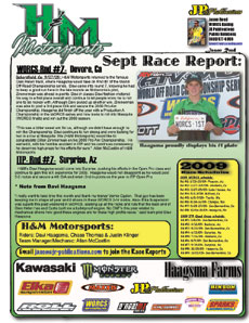h m motorsports september atv worcs itp quadcross reports. Black Bedroom Furniture Sets. Home Design Ideas