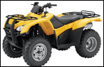 Honda TRX420 ATV Yellow