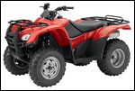 Red Honda Rancher ES Utility ATV