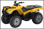 Yellow Honda Rancher Utility ATV