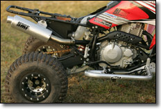 Honda TRX400EX ATV slip-on Exhaust system