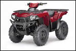 Aztec Red Kawasaki Brute Force 650 4x4i ATV