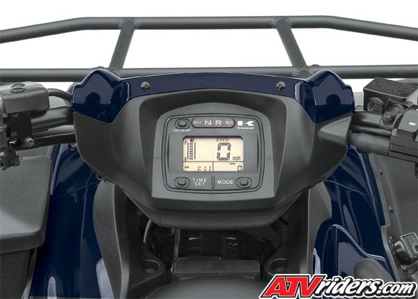 kawasaki 750 brute force 2008 atv 4x4 meter hour dashboard fuel meters speedometer odometer gauge clock dual trip rear atvriders