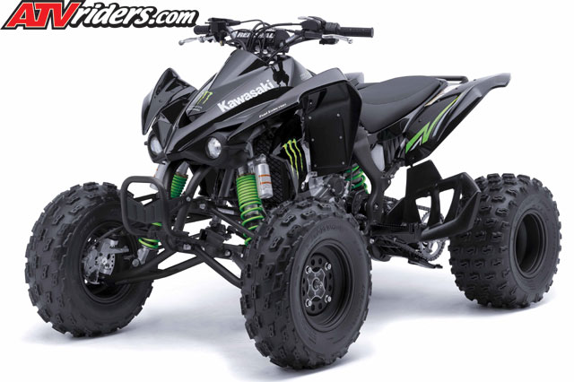 2009 kawasaki sport atv model lineup including the kfx450r, kfx700