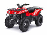 Red 2009 Prairie 360 4x4 ATV