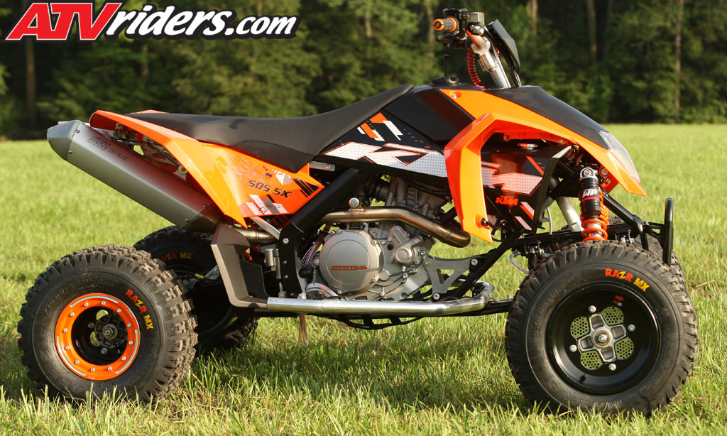 2009 ktm 505sx 450sx atv motocross test ride review. Black Bedroom Furniture Sets. Home Design Ideas