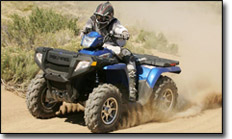 Polaris Sportsman™ 500 800 EFI Twin Utility ATV Action
