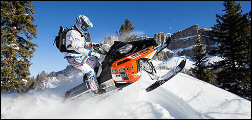 Enter to win a 2014 Polaris snowmobile by visiting your local polaris