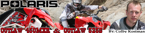 2008 Polaris Outlaw 450MXR & 525S ATV Press Intro