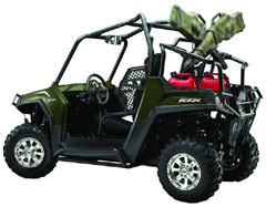 Polaris Ranger Rzr equipped with various accessories for the cruiser and hunter