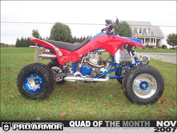 Pro Armor S November Quad Of The Month Justin S Laeger