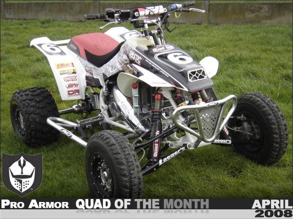 Pro Armor S April 08 Quad Of The Month Christophe S Honda Trx250r Atv
