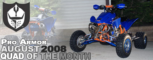 August Quad of the Month ATV Header