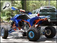 TRX450R ATV Orange Blue