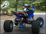 TRX450R Orange Blue ATV