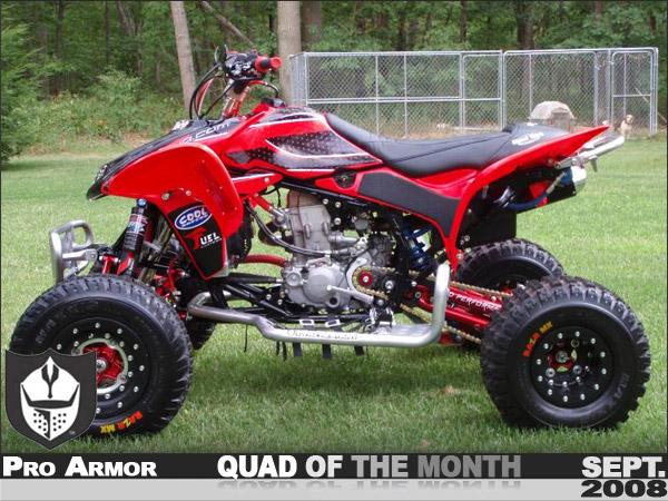Red Honda TRX450R ATV